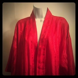 Victoria Secret Red Nightgown OS 100% Polyester